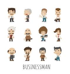 Set of businessman eps10 format vector image vector image