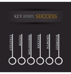 set of key for business success vector image