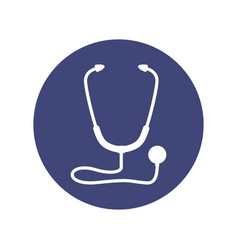 stethoscope medical symbol vector image vector image