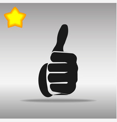 thumb up black icon button logo symbol vector image vector image