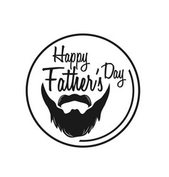 Typography poster happy fathers day vector