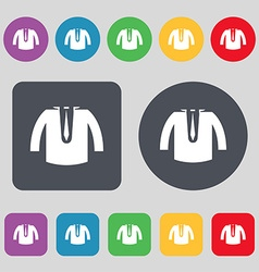 Casual jacket icon sign a set of 12 colored vector