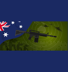 Australia military power army defense industry war vector