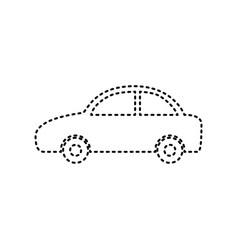 Car sign   black dashed icon vector