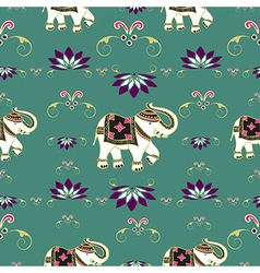 Festive typical indian elephant pattern vector