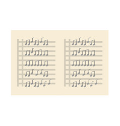 musical partiture sheets vector image