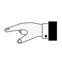 Open hand sideview icon imag vector