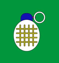 Flat icon design collection military frag grenade vector