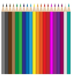 Colour pencils set vector