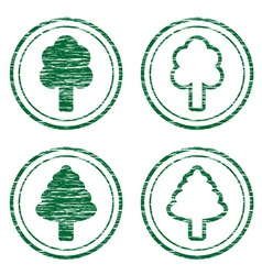 Scratched eco stamps vector