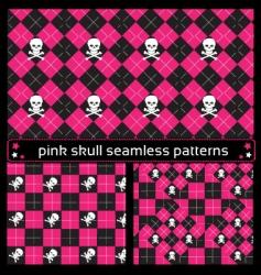 skull seamless patterns vector image