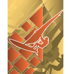 Sport poster series windsurfing vector