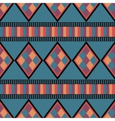 Seamless ethnic pattern with diamonds vector