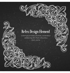 Vintage baroque corner vector image