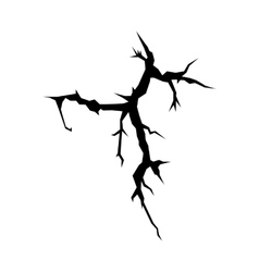 Cracks black silhouette vector