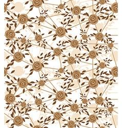 seamless net flower vector image