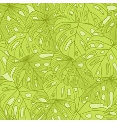 Leaves of palm tree seamless pattern vector