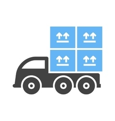 Loaded truck vector