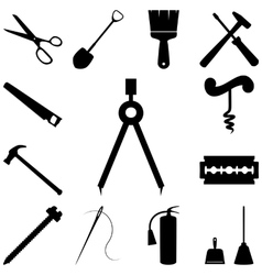 Tools icons set Flat style vector image