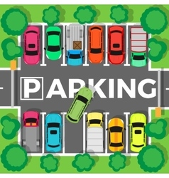 Parking top view vector