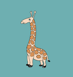 Baby giraffe cartoon vector