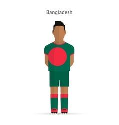 Bangladesh football player Soccer uniform vector image