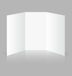 Blank trifold paper vector