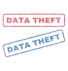 Data theft textile stamps vector