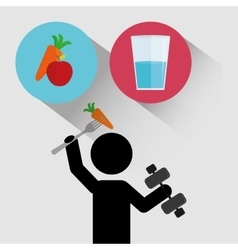 Fitness healthy food vector image vector image