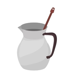 full color with jug chocolate and beater vector image