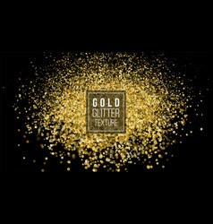 Gold glitter powder explosion dust and spark vector