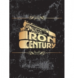 iron century golden vector image