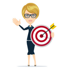 Marketing target stock flat vector