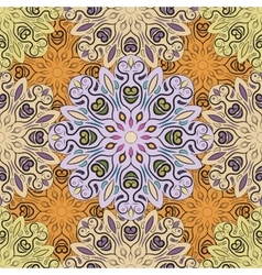 Pastel seamless pattern with flowery vector image