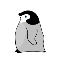 Penguin cute animal funny cartoon vector