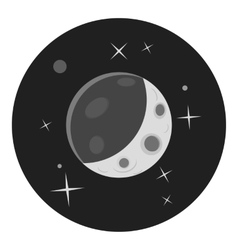 Planet in space icon gray monochrome style vector image vector image