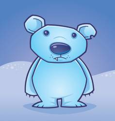 polar bear cub vector image