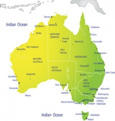 political map of Australia vector image