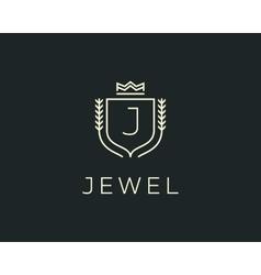 Premium monogram letter j initials ornate vector
