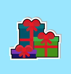 present boxes icon isolated over blue background vector image