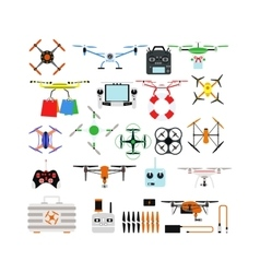 Quadrocopters drone helicopter toy vector image vector image