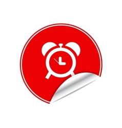 Red sticker clock vector