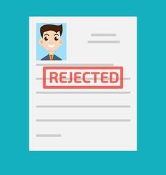 Rejected paper vector