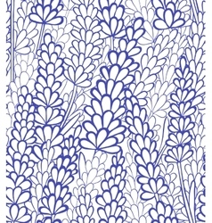 Seamless lavender background vector
