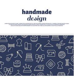 Sewing needlework handwork design vector