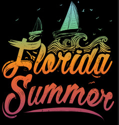 summer poster florida vector image