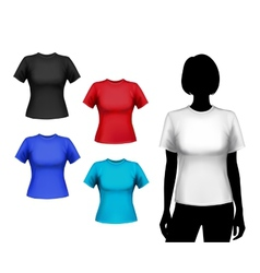 T-shirts female set vector image