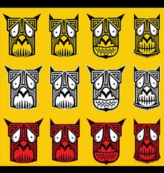 Tribal scary halloween skull totem mascot i vector