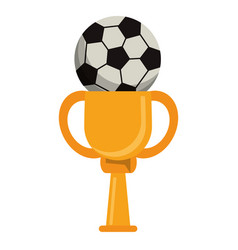 Trophy soccer ball winner vector