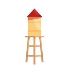 Wooden house icon cartoon style vector